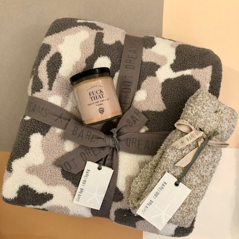 Barefoot Dreams Camo Blanket