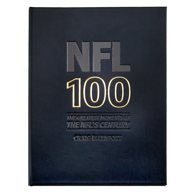NFL 100 The Greatest Moments of The NFL's Century Genuine Leather Book