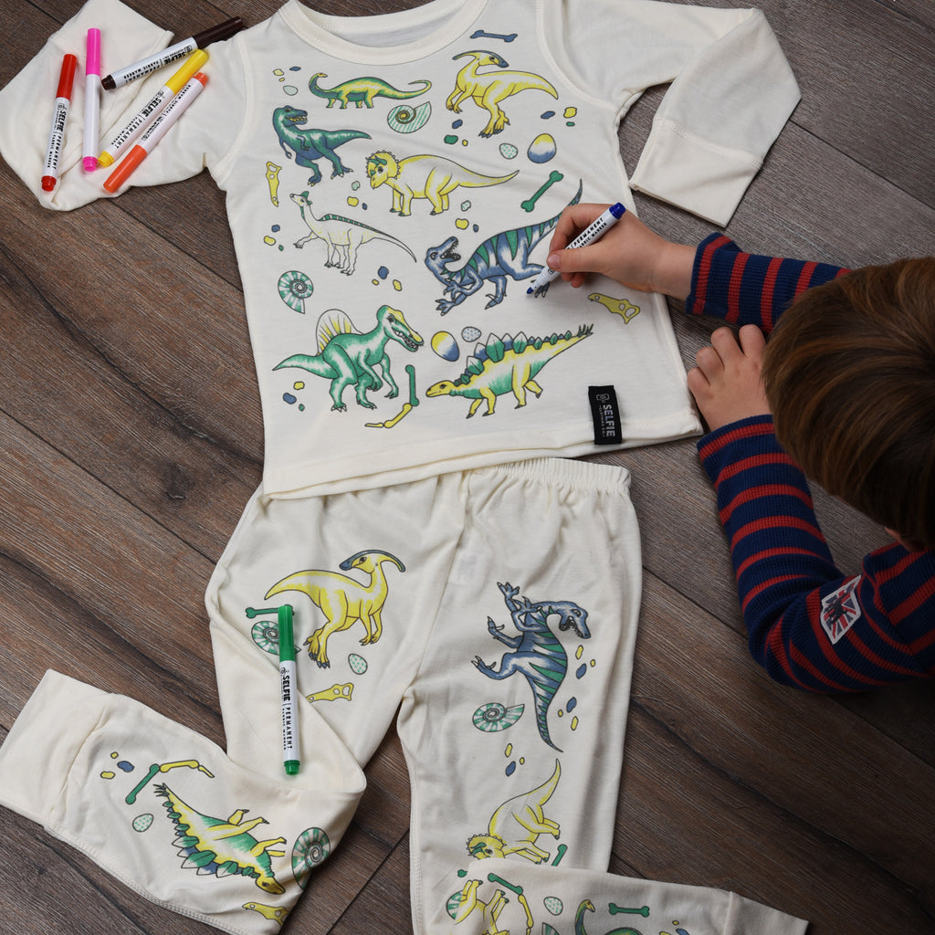 Colour Your Own Pajamas - Dinosaur