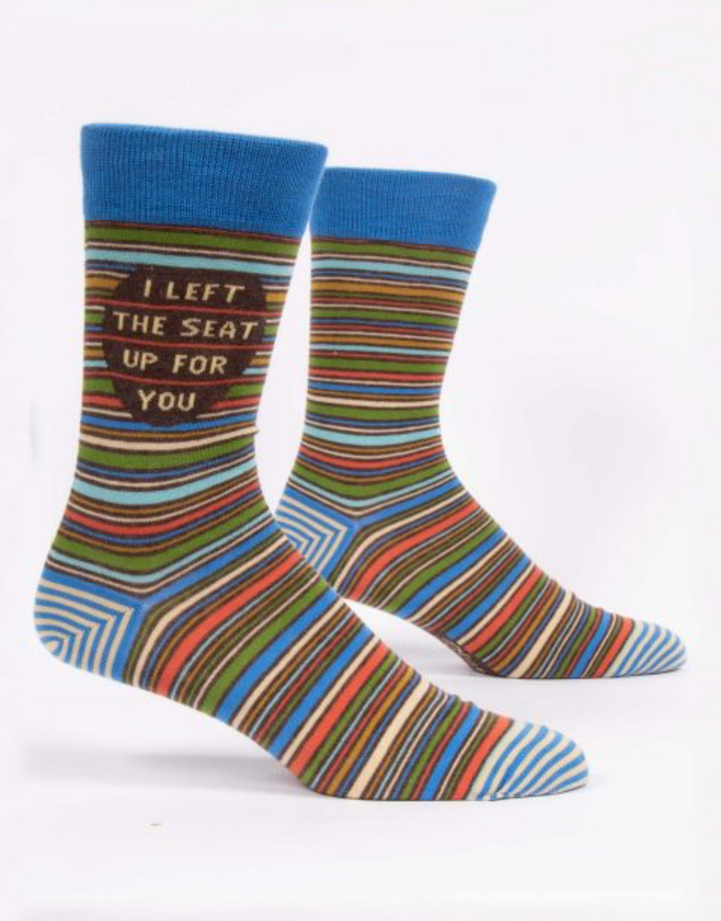 Blue Q Men's Socks- I left the seat up