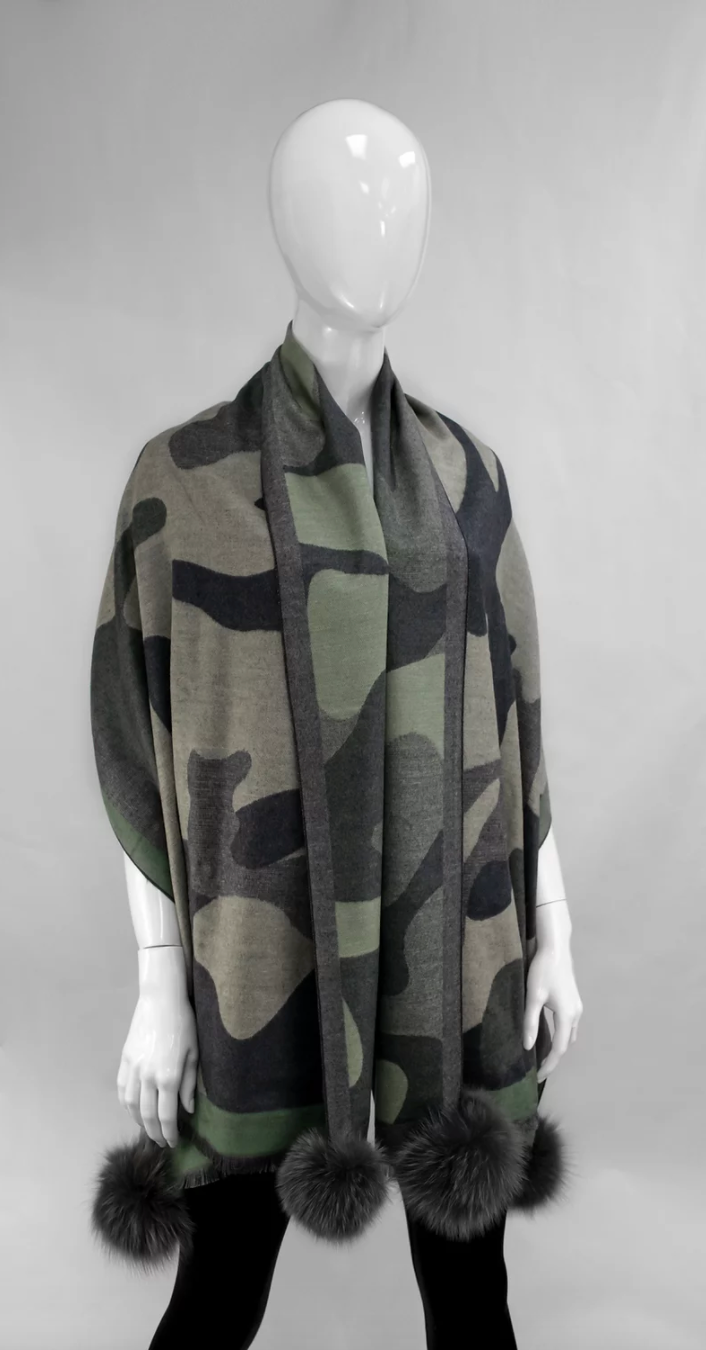 Woven Large Camo Scarf