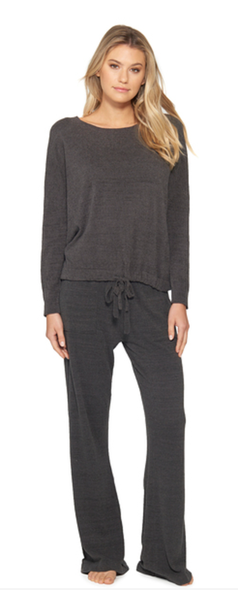 Barefoot Dreams Cozy Chic Ultra Light Slouchy Top - Carbon