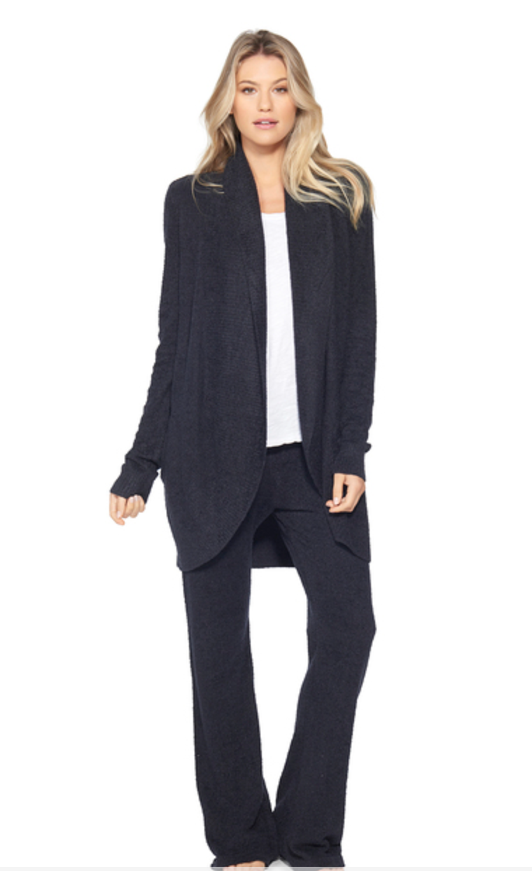 Barefoot Dreams Circle Cardigan Black