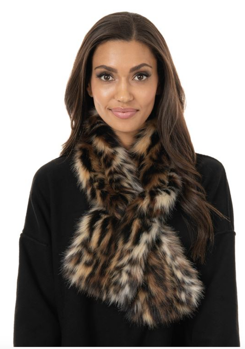 Fabulous Furs Faux Pull Through Scarf