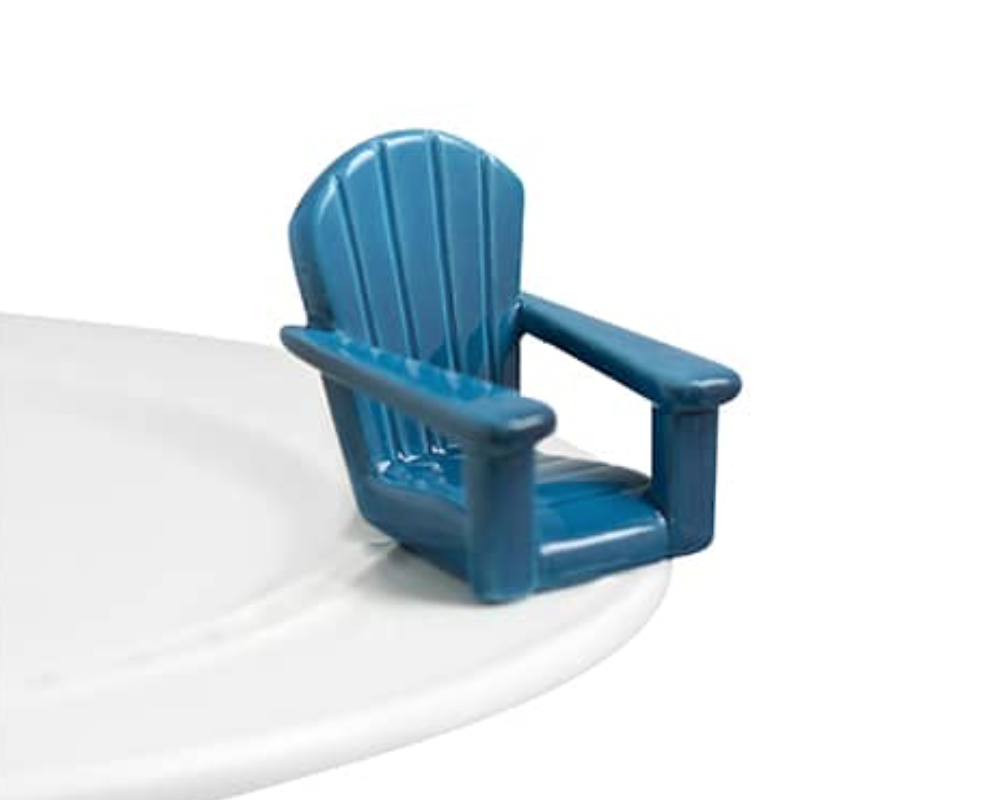 Nora Fleming Mini Chillin' Chair Blue