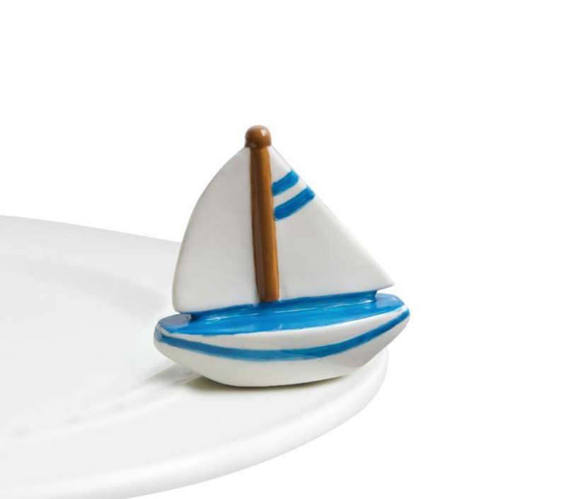 Nora Fleming Mini Sail Me Away Sailboat