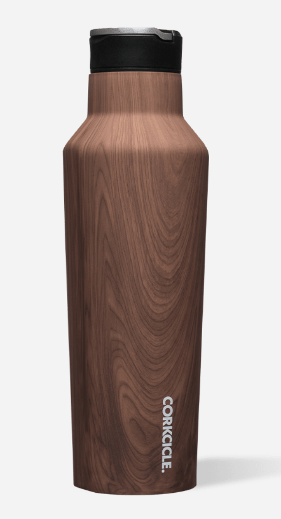 Corkcicle Sport Canteen - 20oz Walnut Wood