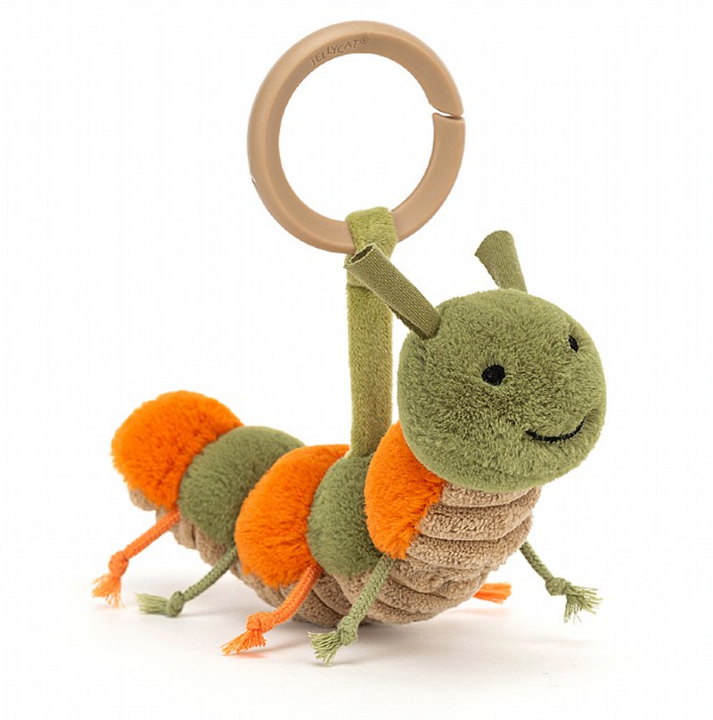 Jellycat Little Christopher Caterpillar Rattle Stroller