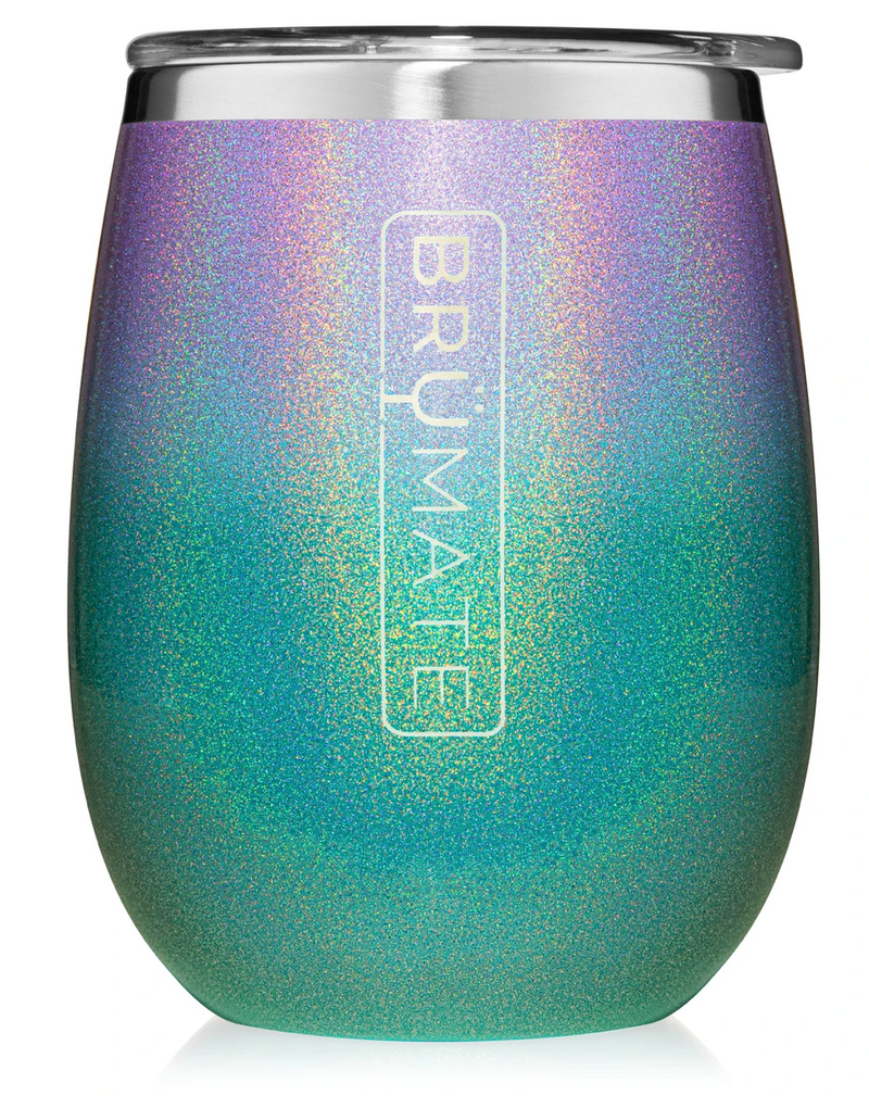 Brumate Uncork'd XL 14oz Wine Tumbler - Glitter Mermaid
