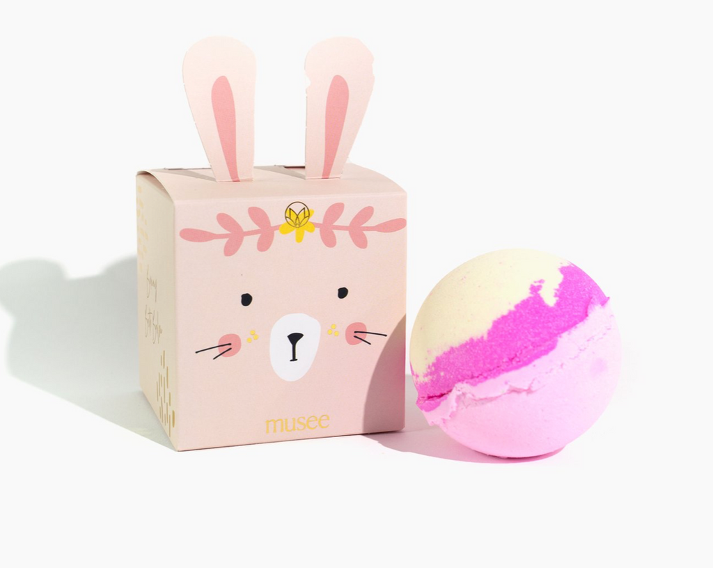 Musee Bath Bomb - Pink Bunny Boxed