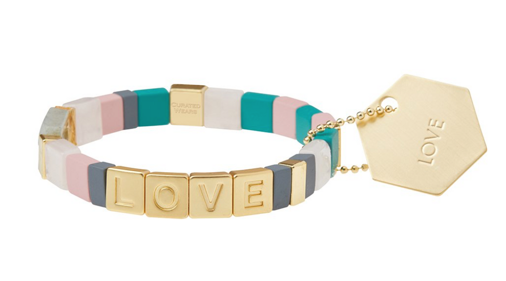Scout Empower Bracelet Love Gold/Rose Quartz/Labradorite