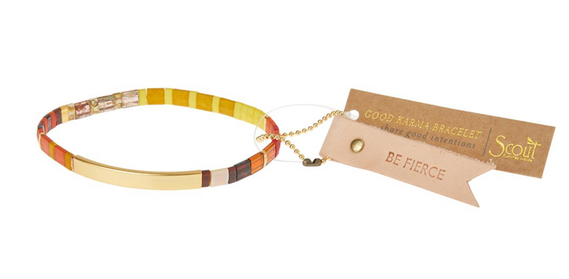 Scout Good Karma Tile Bracelet Be Fierce Sunset/Gold