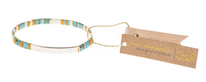Scout Good Karma Tile Bracelet Pure Magic Turquoise Silver