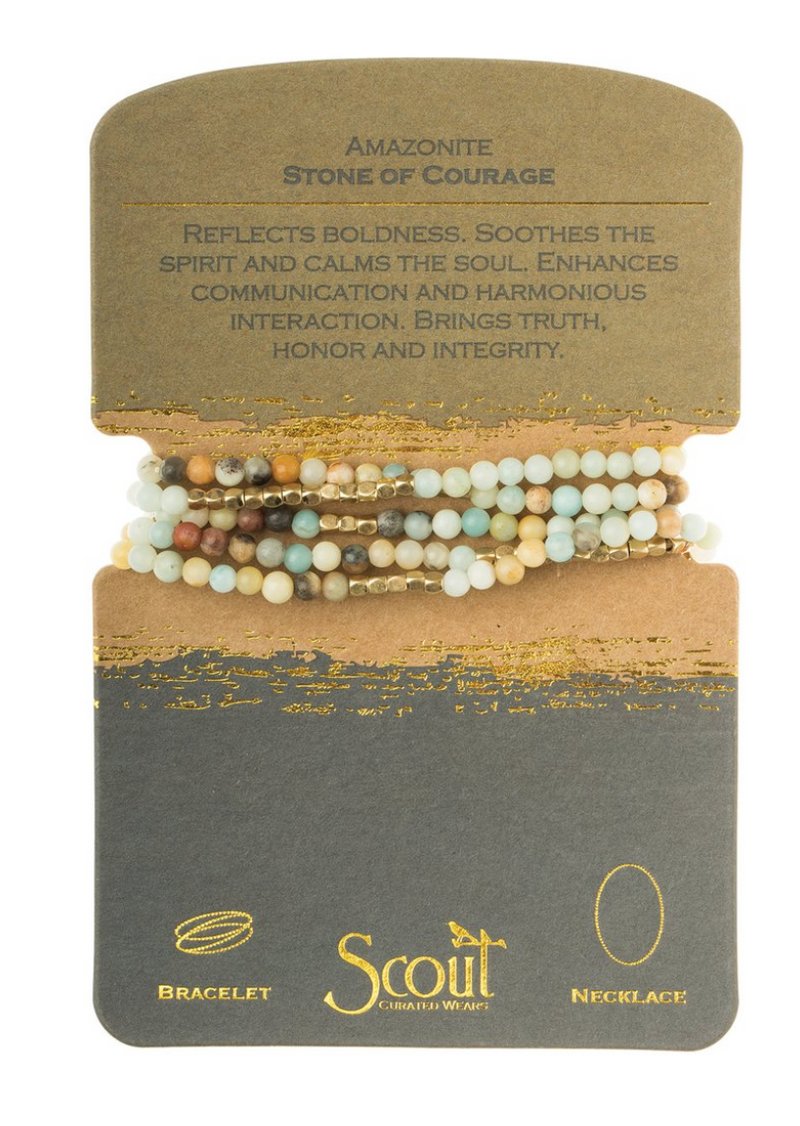 Scout Stone Wrap Bracelet/Necklace Amazonite