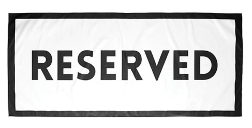 Quick Dry Towel Reserved