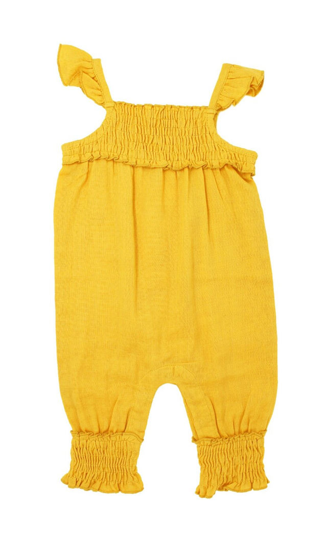 Loved Baby Organic Muslin Sleeveless Romper Saffron