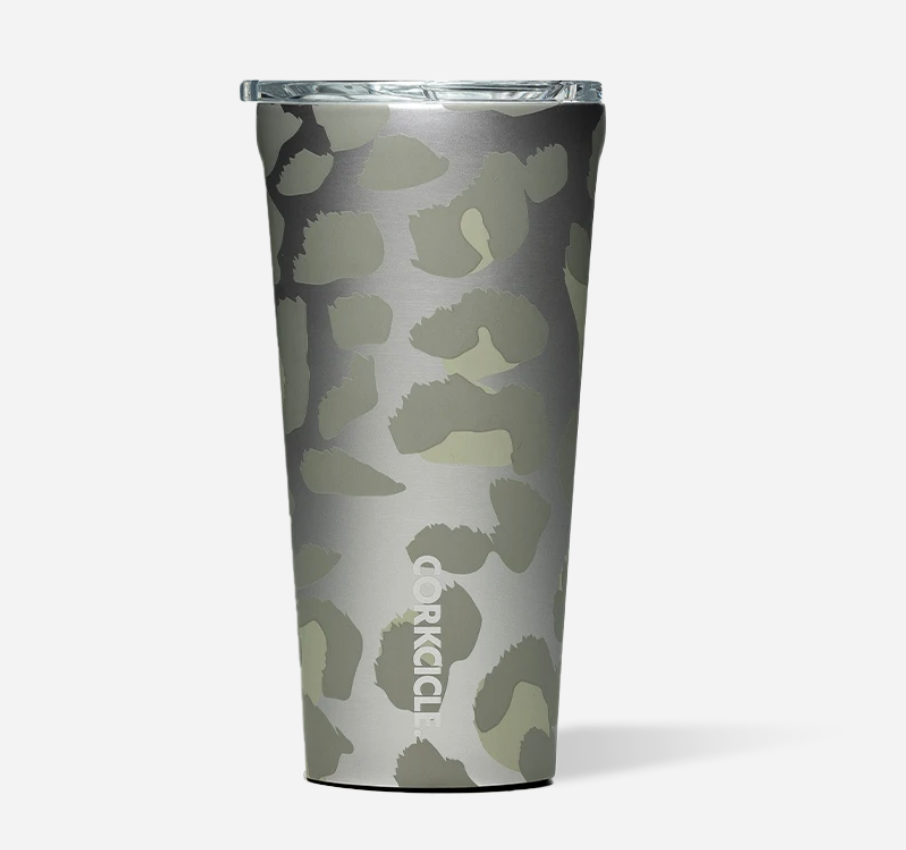 Corkcicle 16oz Tumbler Snow Leopard