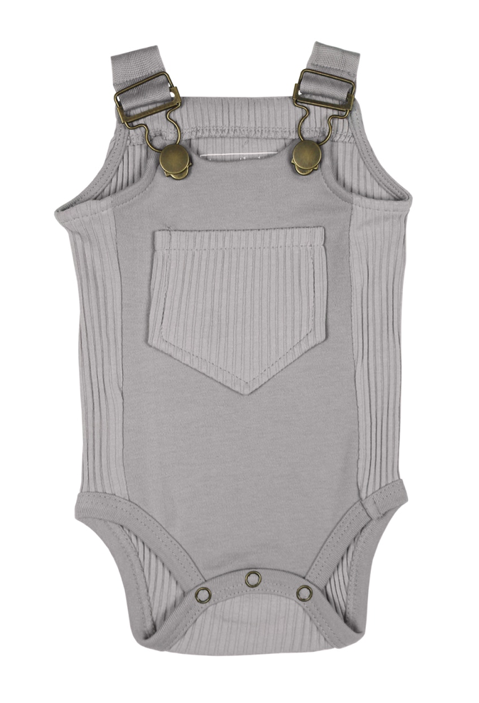 Loved Baby Ribbed Bodysuit - Light Grey