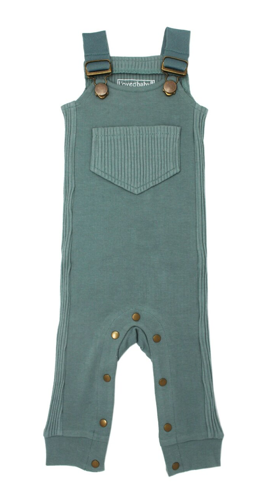 Loved Baby Ribbed Overall - Jade