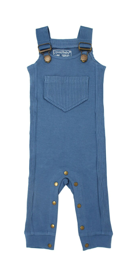 Loved Baby Ribbed Overall - Sky