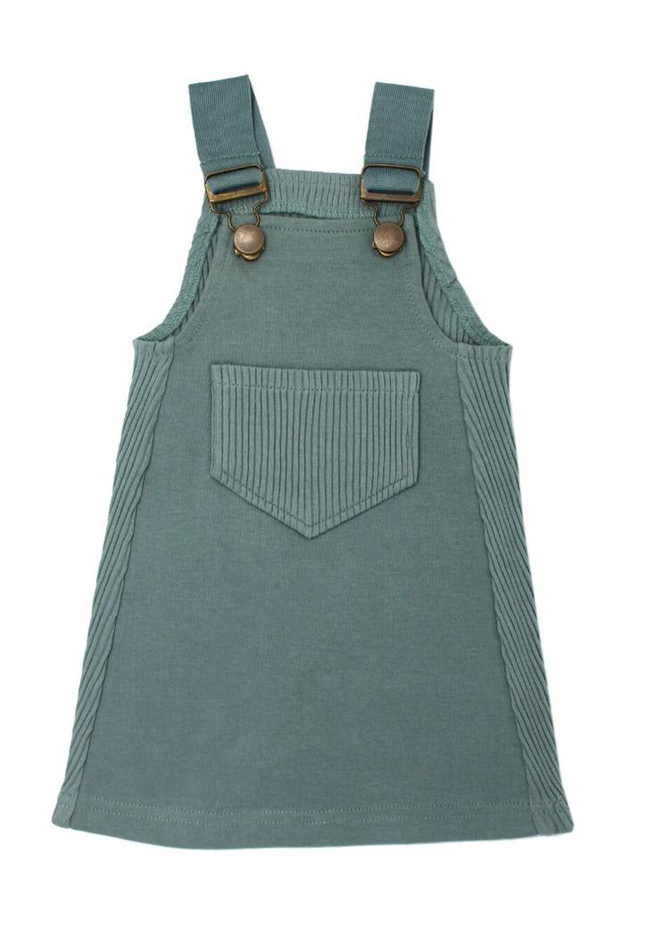Loved Baby Ribbed Tank Dress - Jade