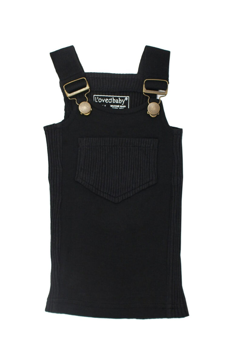 Loved Baby Ribbed Tank/Short - Black