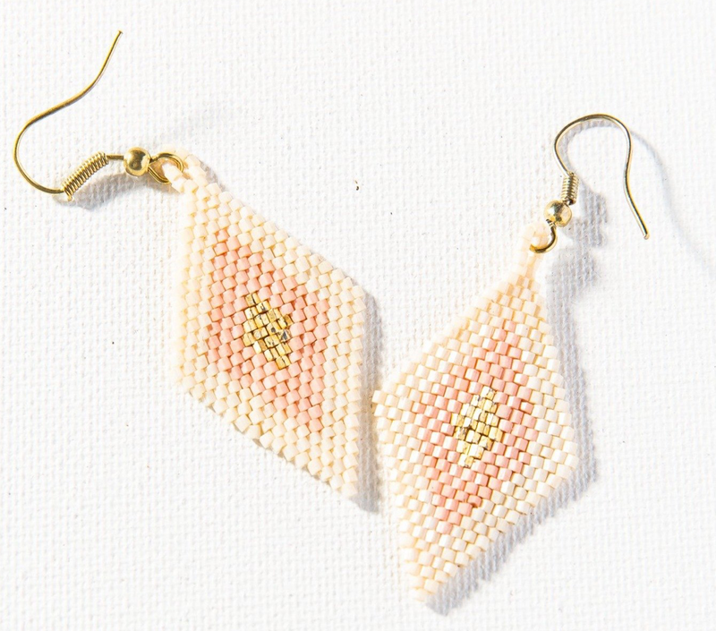 Ink + Alloy Luxe Earring - Blush Gold Ivory Small Diamond