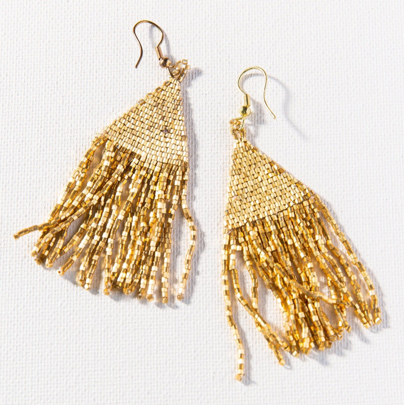 Ink + Alloy Luxe Earring - Petite Fringe Gold