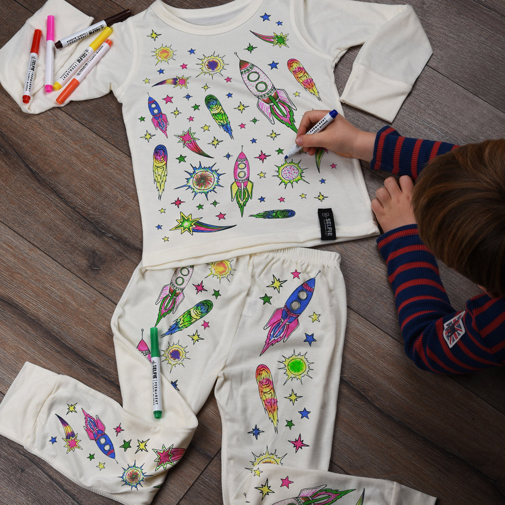 Color Your Own Pajamas - Space