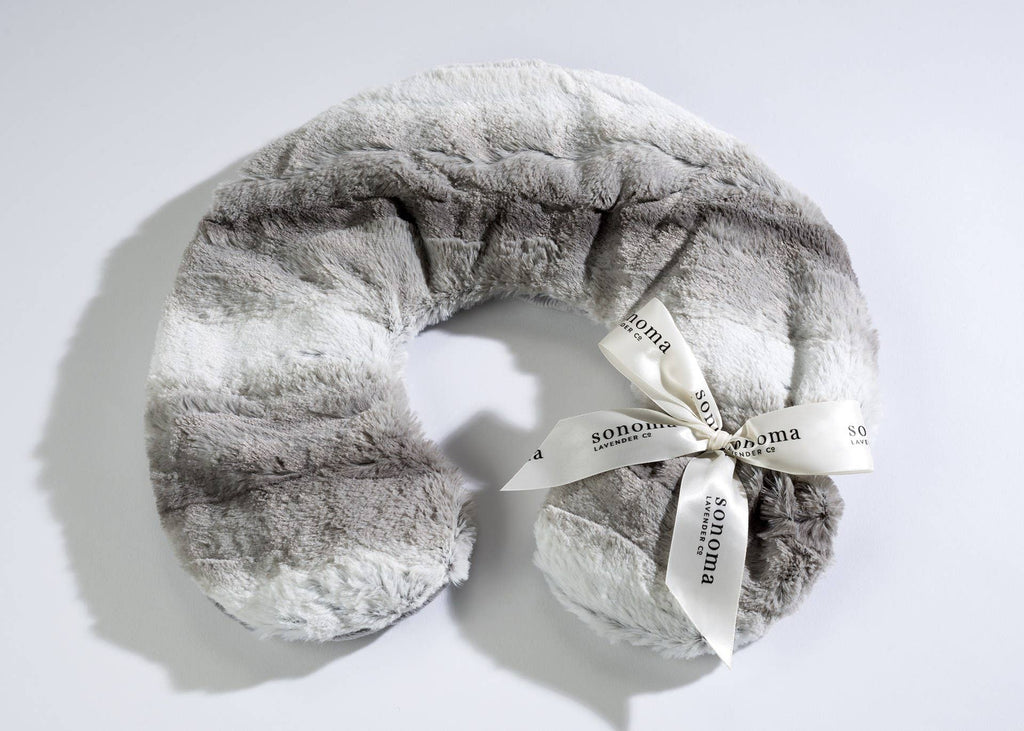 Angora Platinum Lavender Neck Pillow