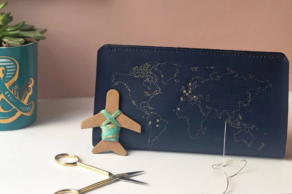 Chasing Threads - Stitch Travel Wallet - Navy