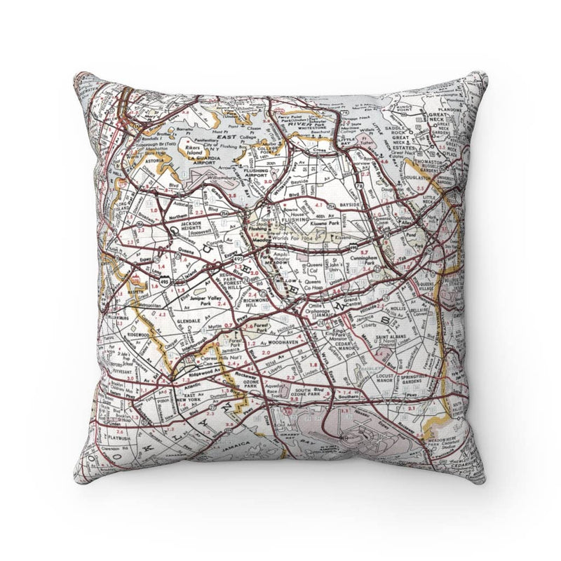 Map Pillow - Queens New York