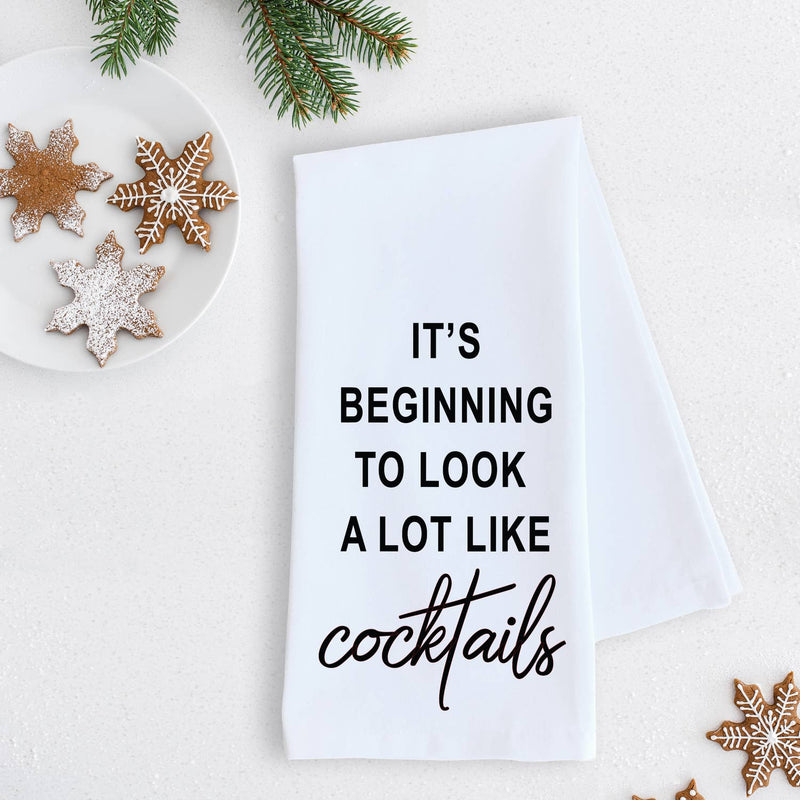 Tea Towel - It's Beginning To Look... Cocktails