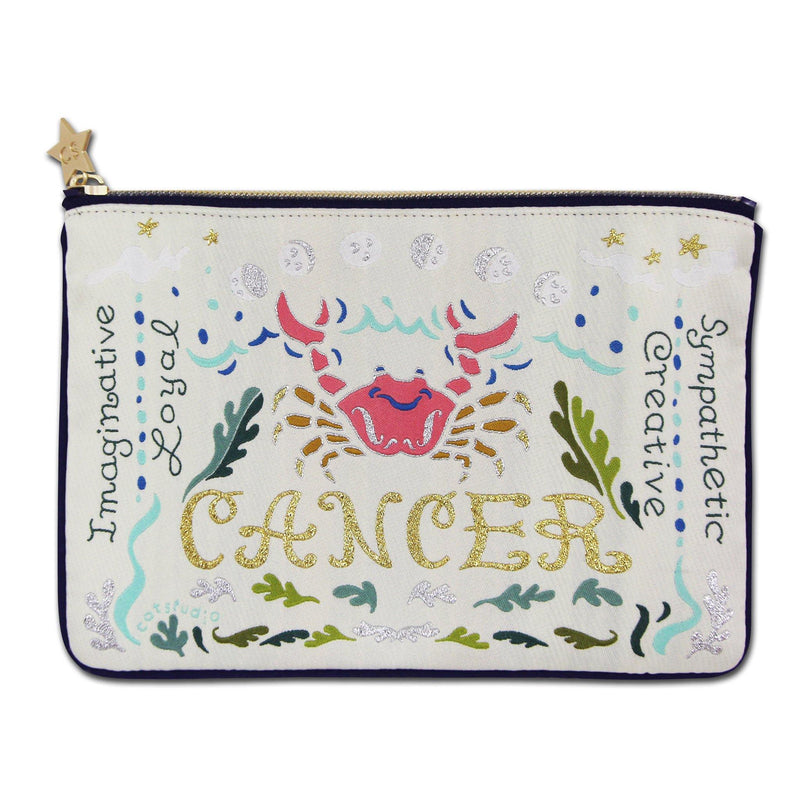 Astrology Embroidered Zip Pouches