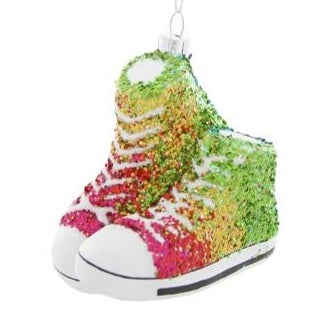 Ornament Glittered Rainbow Sneaker
