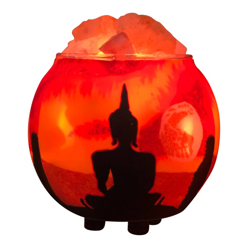 Himalayan Salt Lamp Essential Oil Diffuser - Buddha