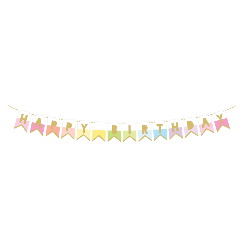 Party Partners - Happy Birthday Rainbow Banner