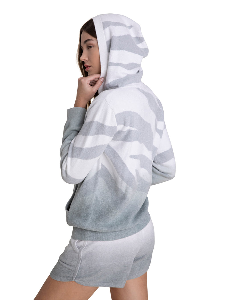 Barefoot Dreams Ocean Reef Zip Up Hoodie - Ocean