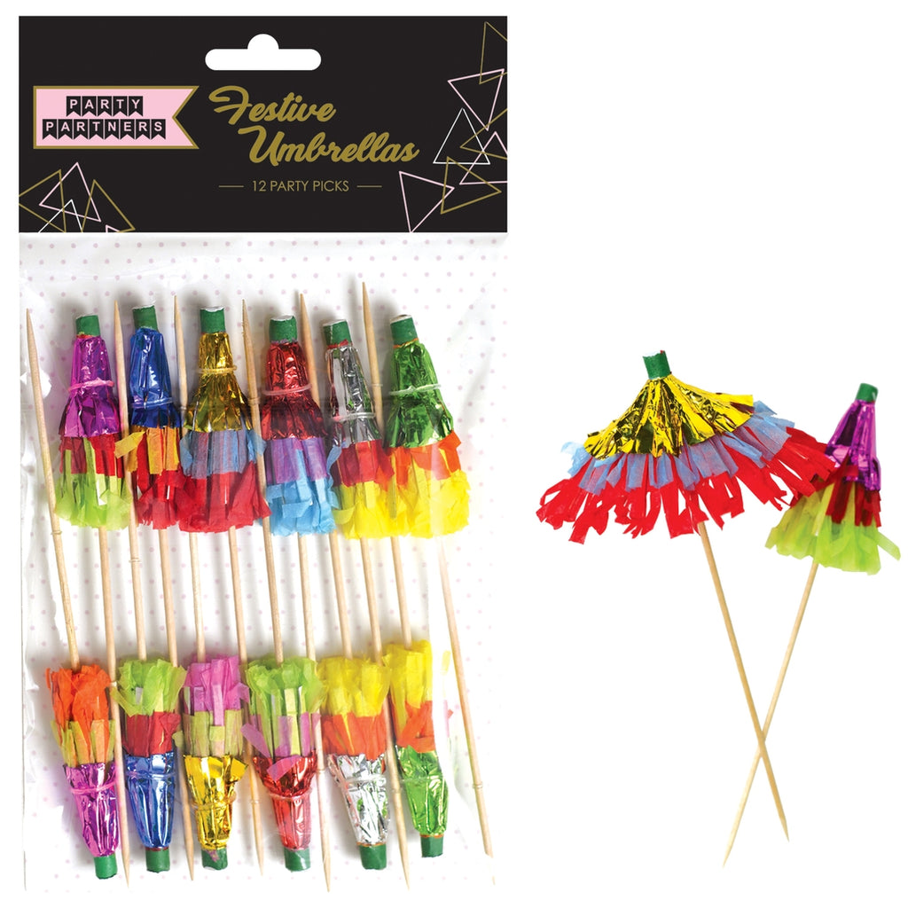 Party Partners - Festive Umbrella Party Picks