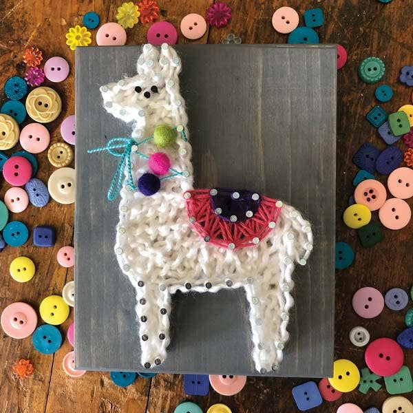 Mini String Art Kit - Llama