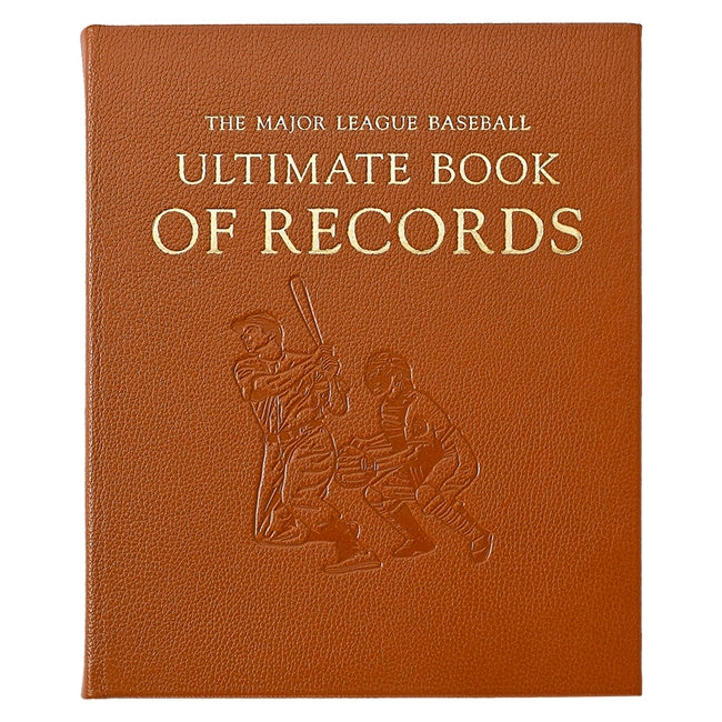 The Major League Baseball Ultimate Book of Records in Full Grain Leather