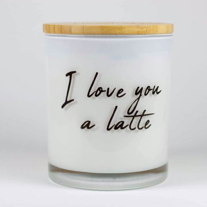 Soy Candles - I Love You A Latté
