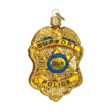 Old World Ornament Police Badge