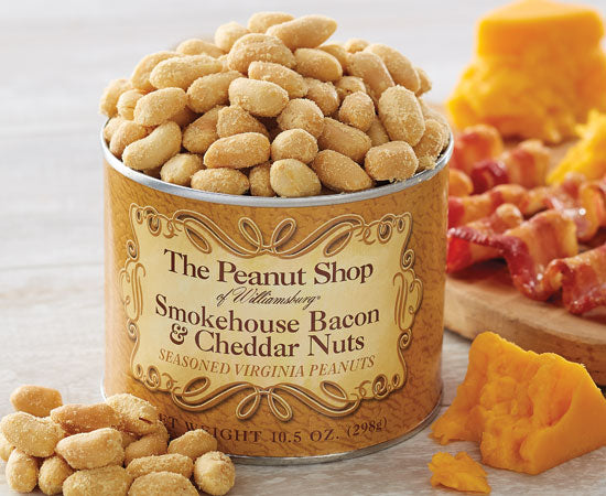 The Peanut Shop Smokehouse Bacon & Cheddar Nuts