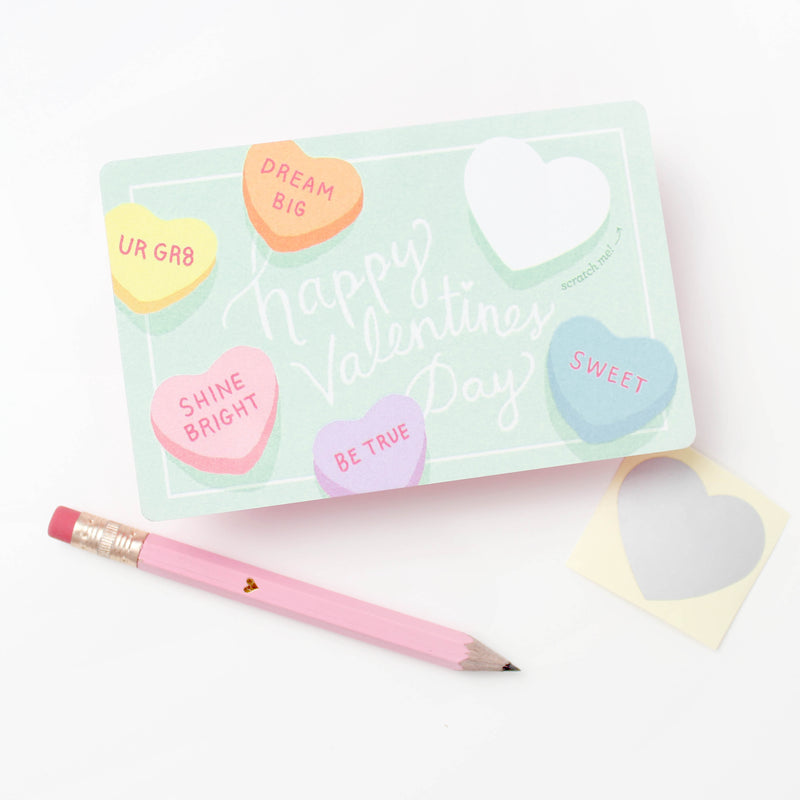 Sweetheart Scratch off Valentines - Box of 18