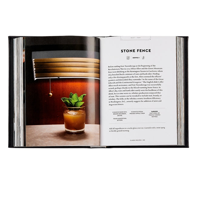 The Essential Cocktail Genuine Leather Book