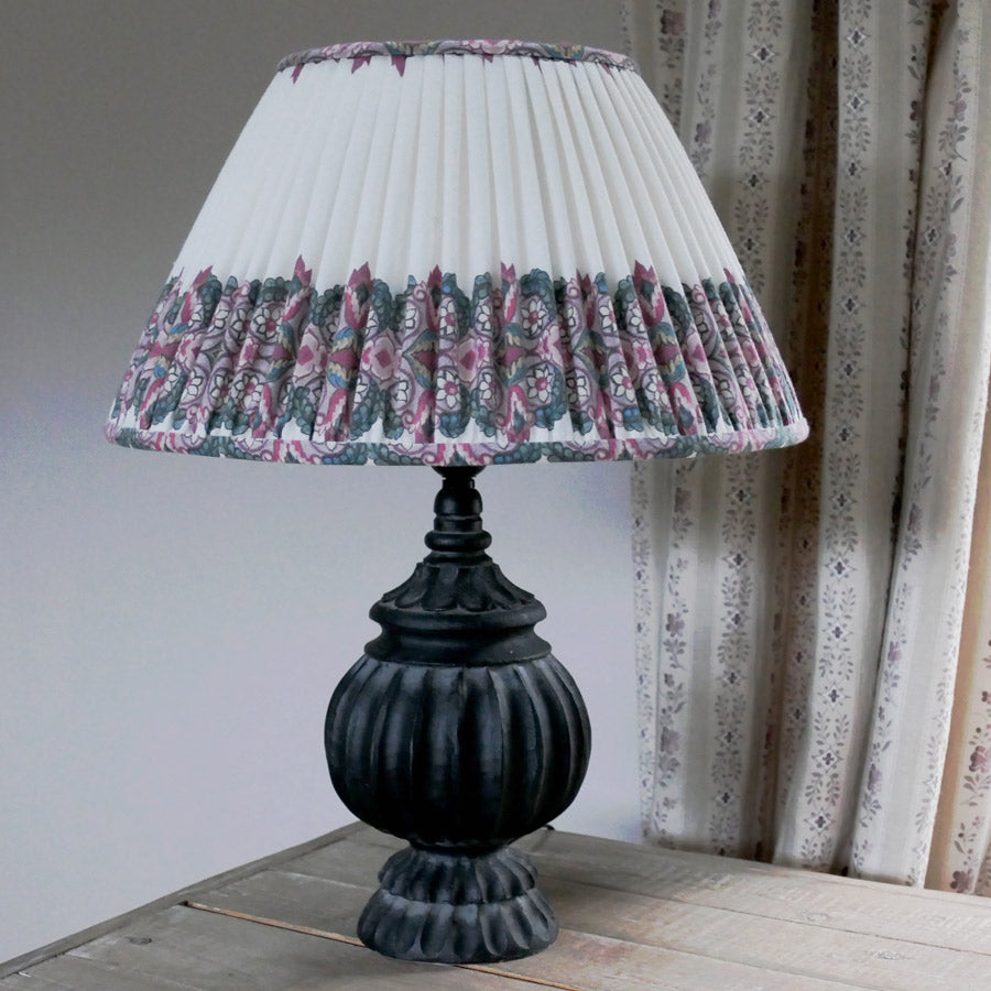 Pleated Empire Lampshade / Balazuc Morocco Stripe Ivory