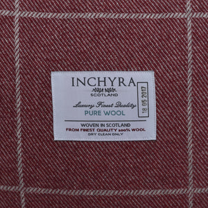Scottish Wool Check Square Cushion