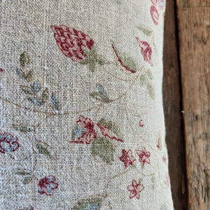 Linen Cushion / Framboise Natural Double Aged