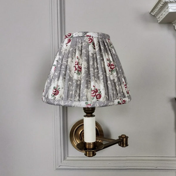 Gathered Linen Candle Shade/ Posy Truffle